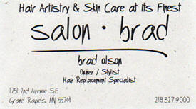 Salon Brad, Grand Rapids Minnesota