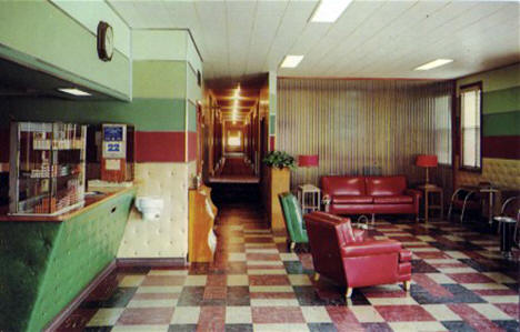 Lobby of Riverside Hotel, Grand Rapids Minnesota, 1952