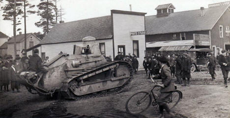 WWI Army Tank, Grand Rapids Minnesota, 1917