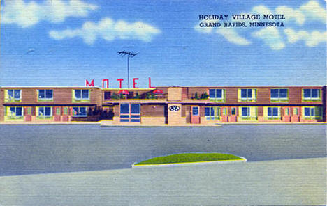 Holiday Village Motel, Grand Rapids Minnesota, 1960's?