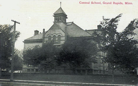 Central School, Grand Rapids Minnesota, 1910