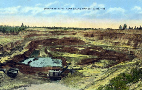 Greenway Mine, Grand Rapids Minnesota, 1940's?