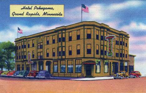 Hotel Pokegama, Grand Rapids Minnesota, 1940's?