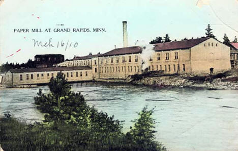 Paper Mill, Grand Rapids Minnesota, 1910