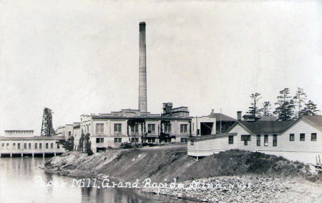 Paper Mill, Grand Rapids Minnesota, 1920's