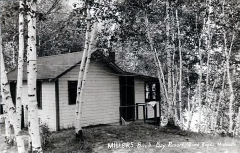 Miller's Birch Bay Resort, Grand Rapids, Minnesota, 1950's.
