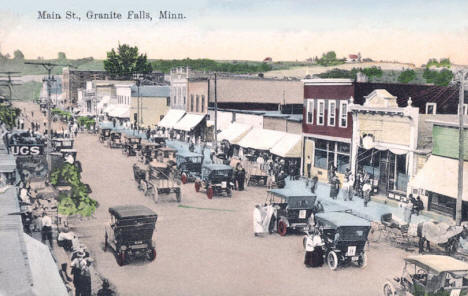 Main Street, Granite Falls Minnesota, 1910