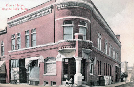 Opera House, Granite Falls Minnesota, 1910's