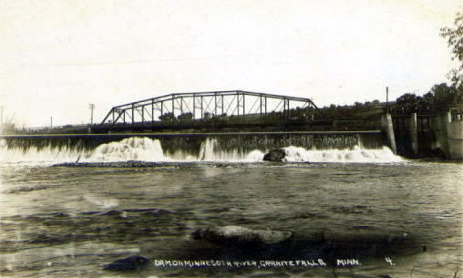 Dam on Minnesota River, Granite Falls Minnesota, 1920