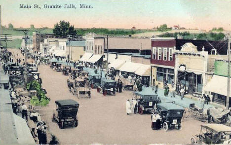Main Street, Granite Falls Minnesota, 1922