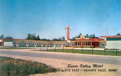 Scenic Valley Motel, Granite Falls Minnesota, 1960's?