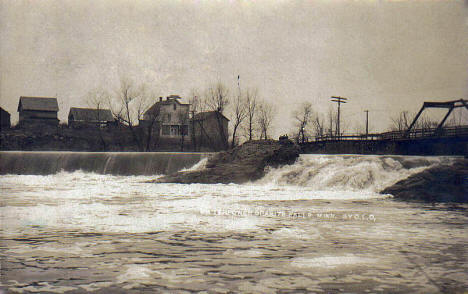 View of the Minnesota River and Granite Falls Minnesota, 1908
