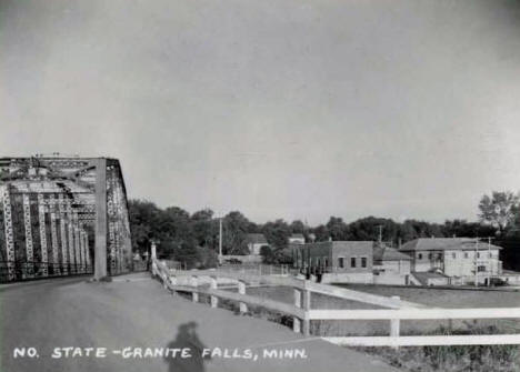 Bridge over Minnesota River, Granite Falls Minnesota, 1950's