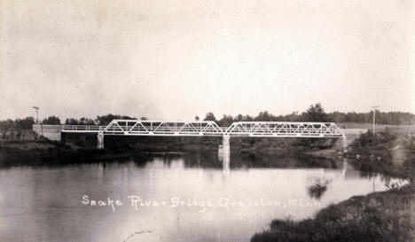 Snake River Bridge over the Snake River, Grasston Minnesota, 1910's