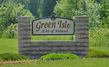 Green Isle Minnesota sign