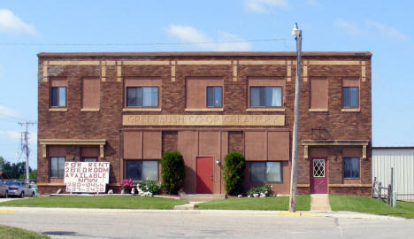 Former Greenbush Co-op Creamery Building, now apartments, Greenbush Minnesota, 2009