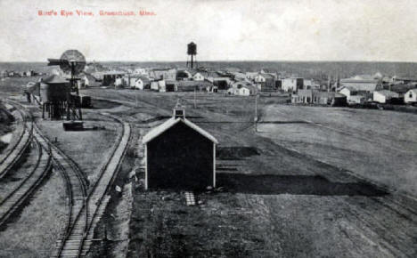 Birds eye view of Greenbush Minnesota, 1900