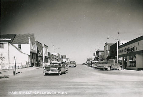 Main Street, Greenbush Minnesota, 1950's