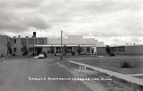 School and Auditorium, Greenbush Minnesota, 1950's