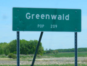 Greenwald Minnesota population sign
