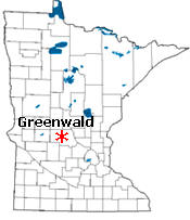 Location of Greenwald Minnesota