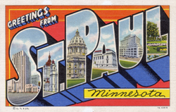 Greetings from St. Paul Minnesota Postcard