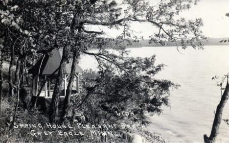 Spring House, Pleasant Beach, Grey Eagle Minnesota, 1940's