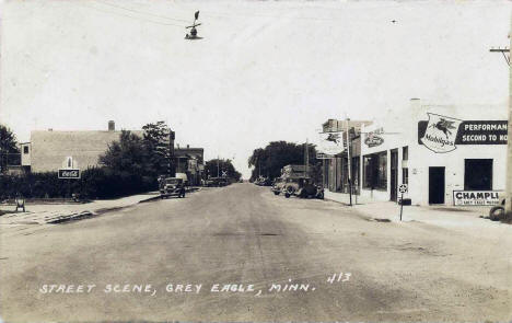 Street Scene, Grey Eagle Minnesota, early 1930's