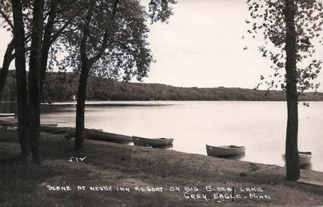 Scene at Nestle Inn on Big Birch Lake, Grey Eagle Minnesota, 1940's