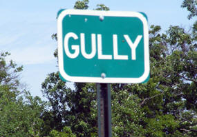 Gully Minnesota highway sign