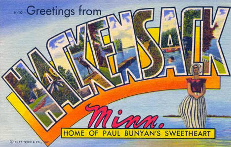 Greetings from Hackensack Minnesota, 1952