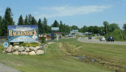 Hackensack Minnesota Welcome Sign