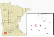 Location of Hadley, Minnesota