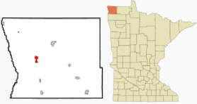 Location of Hallock, Minnesota