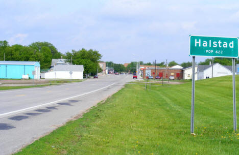 Entering Halstad from the west, 2008