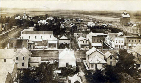 Birds Eye View, Halstad Minnesota, 1911
