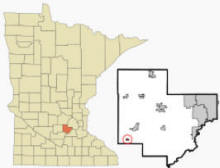 Location of Hamburg, Minnesota