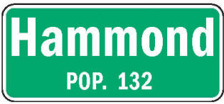Hammond Minnesota population sign