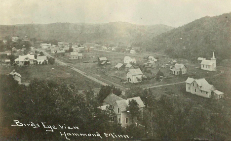 Birds eye view, Hammond Minnesota, 1908