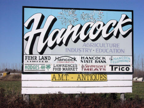 Hancock Minnesota Welcome Sign, 2007