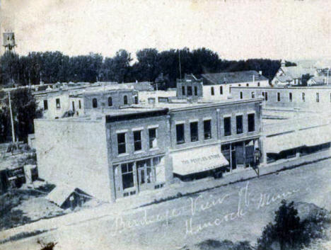 Birds eye view of Hancock Minnesota, 1906