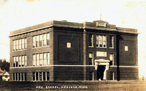 High School, Hancock Minnesota, 1915
