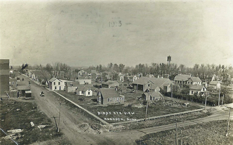 Birds eye view, Hancock Minnesota, 1913