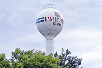 Hanley Falls Minnesota water tower