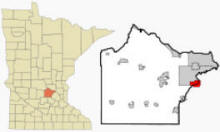 Location of Hanover, Minnesota
