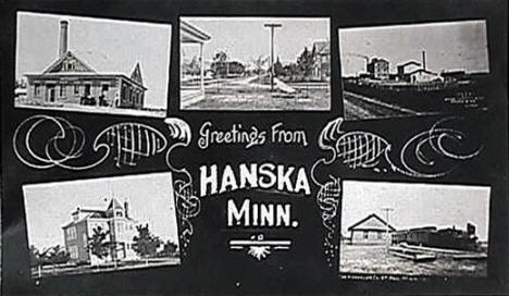 Greetings from Hanska Minnesota, 1911