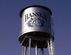 Hanska Minnesota Water Tower