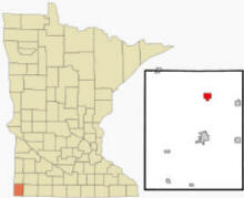 Location of Hardwick, Minnesota