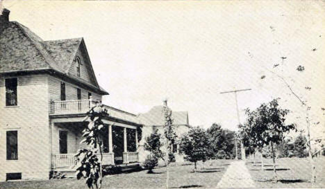 Residences of Dr. F.A. Gowdy and P.M. Oistad, Harmony Minnesota, 1910's?