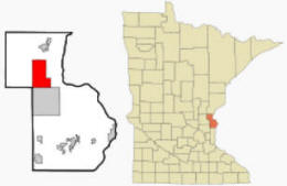 Location of Harris, Minnesota